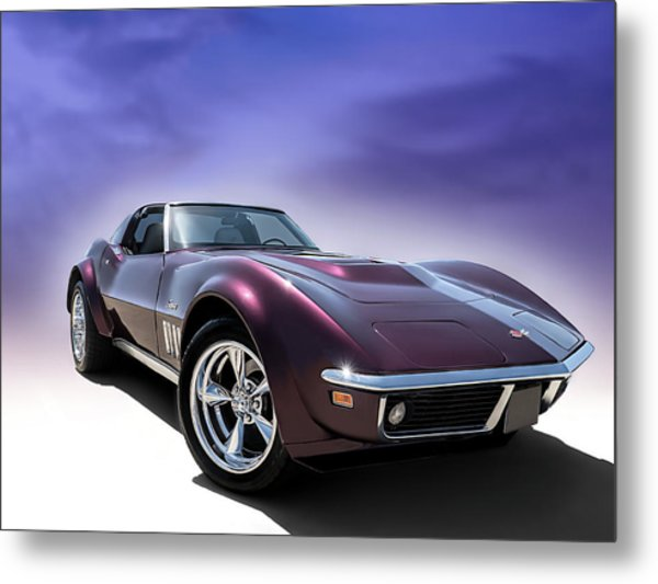 Purple Stinger Metal Print