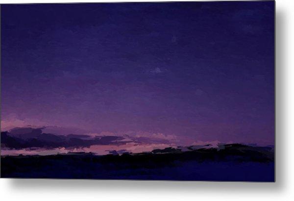 Purple Sunset Over Beach  Metal Print