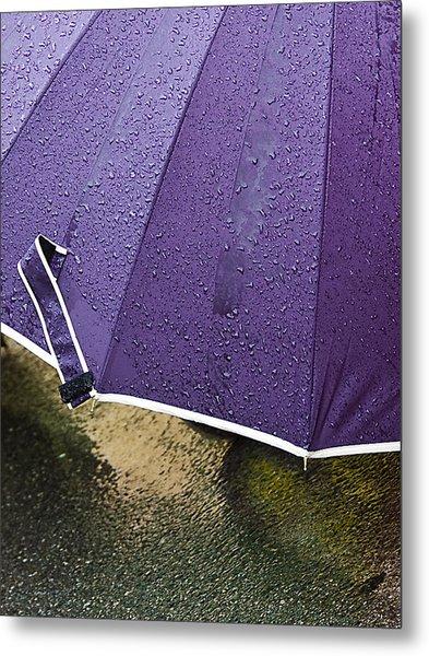 Purple Umbrella Metal Print by Marion McCristall