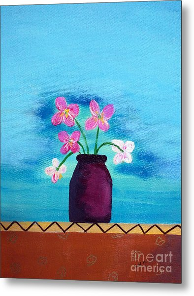 Purple Vase Metal Print