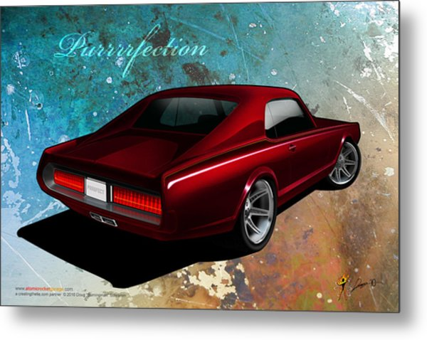 Purrrrfection Metal Print