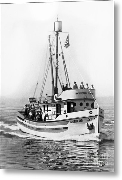 Purse Seiner Western Flyer On Her Sea Trials Washington 1937 Metal Print
