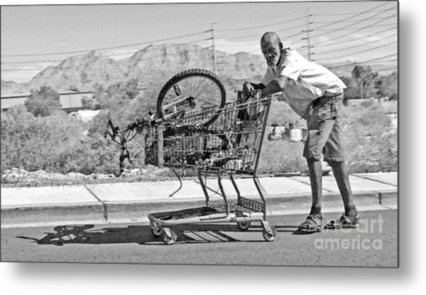 Pushing Shadows Metal Print