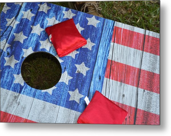 Put It In The Hole Metal Print