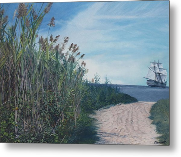 Putting Out To Sea Metal Print