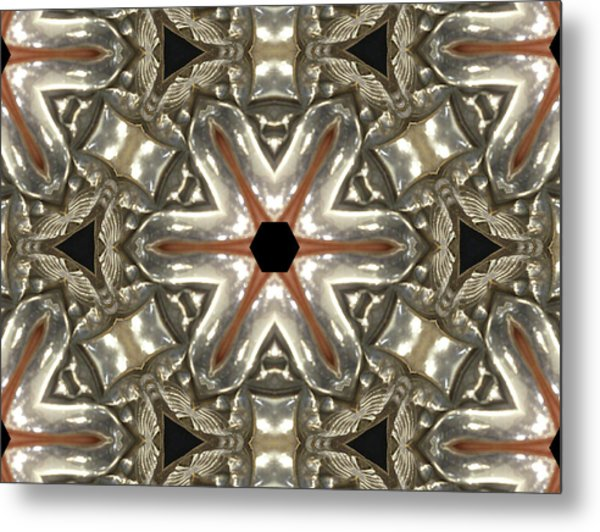 Puzzle In Taupes Metal Print