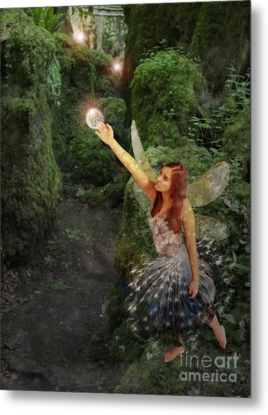 Puzzlewood Fairy Metal Print by Patricia Ridlon