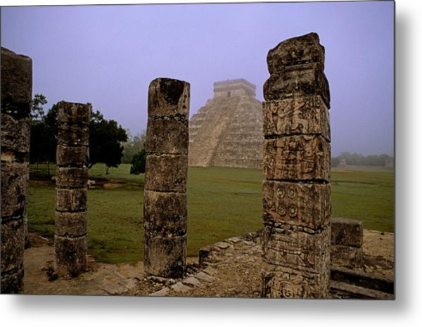 Pyramid At Chichen Itza Metal Print