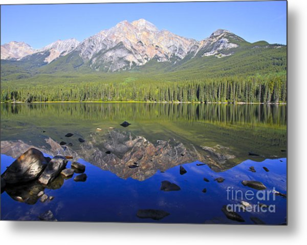 Pyramid Lake Reflection Metal Print