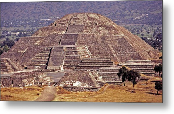 Pyramid Of The Sun - Teotihuacan Metal Print
