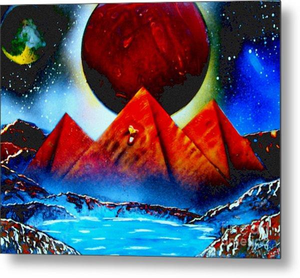 Pyramids 4663 E Metal Print