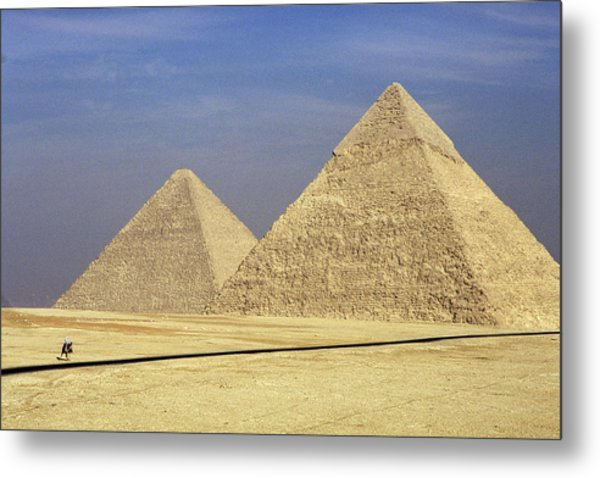 Pyramids At Giza Metal Print