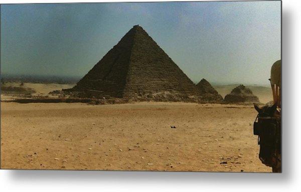 Pyramids Of Egypt Metal Print