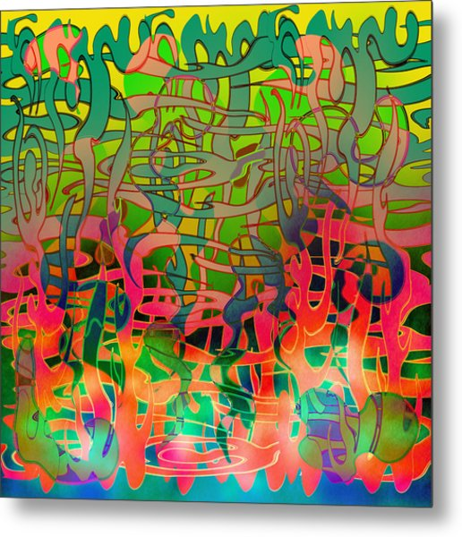 Pyschedelic Alba Metal Print by Grant  Wilson