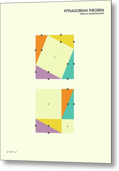 Pythagorean Theorem Metal Print