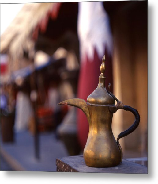 Qatar Welcome Metal Print