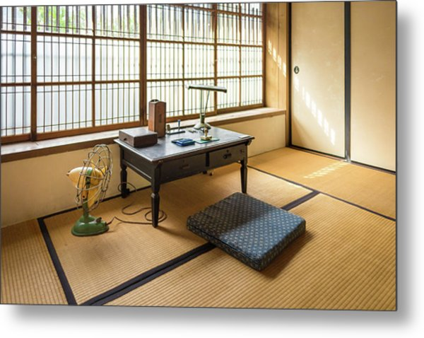 Metal Print featuring the photograph Quaint Tatami Office by Geoffrey Lewis