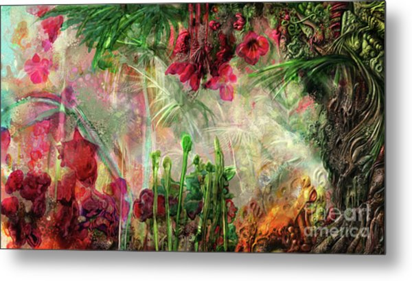 Metal Print featuring the digital art Qualia's Jungle by Russell Kightley