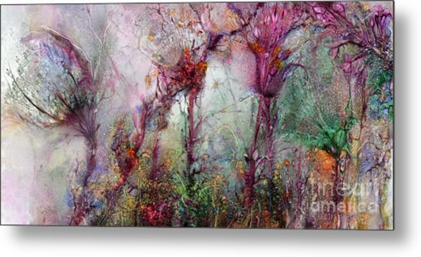 Metal Print featuring the digital art Qualias Meadow by Russell Kightley