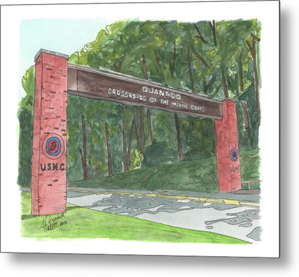 Quantico Welcome Metal Print