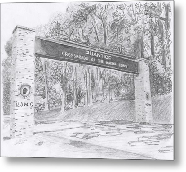Quantico Welcome Graphite Metal Print