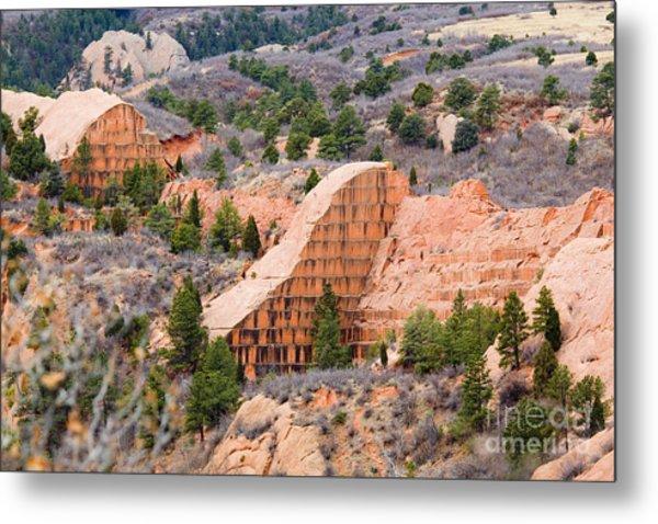 Quarry At Red Rock Canyon Colorado Springs Metal Print