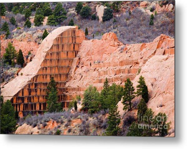 Quarry Closup At Red Rock Canyon Colorado Springs Metal Print