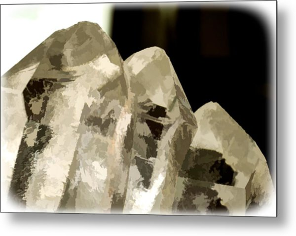 Quartz Crystal Cluster Metal Print
