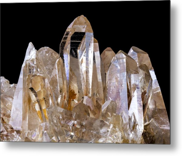 Quartz Crystals Metal Print