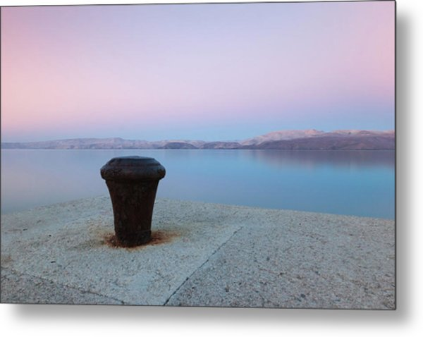 Quay In Dawn Metal Print