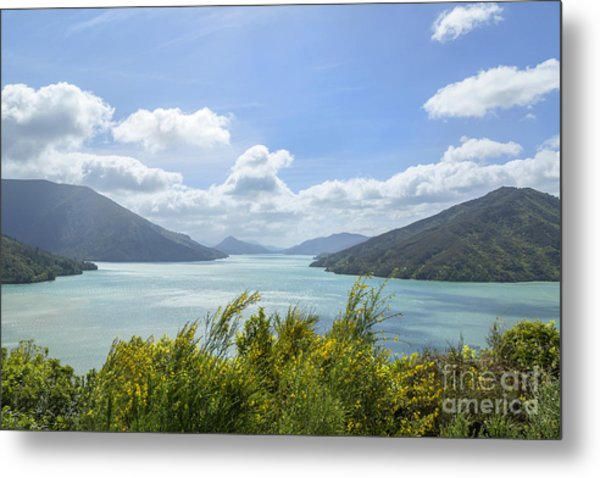 Queen Charlotte Sound, New Zealand Metal Print by Julia Hiebaum