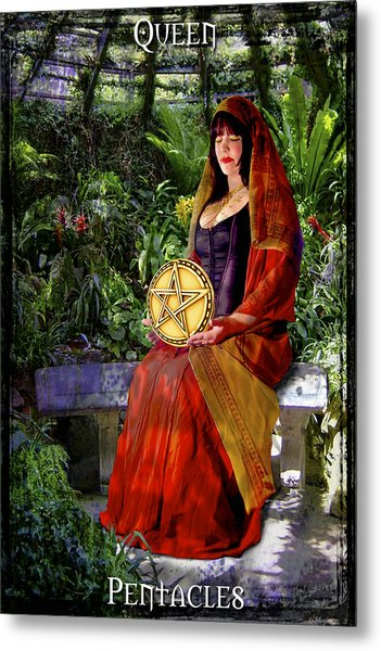 Queen Of Pentacles Metal Print by Tammy Wetzel