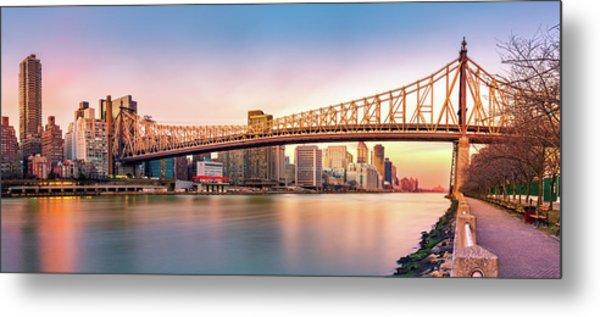 Queensboro Bridge At Sunset Metal Print