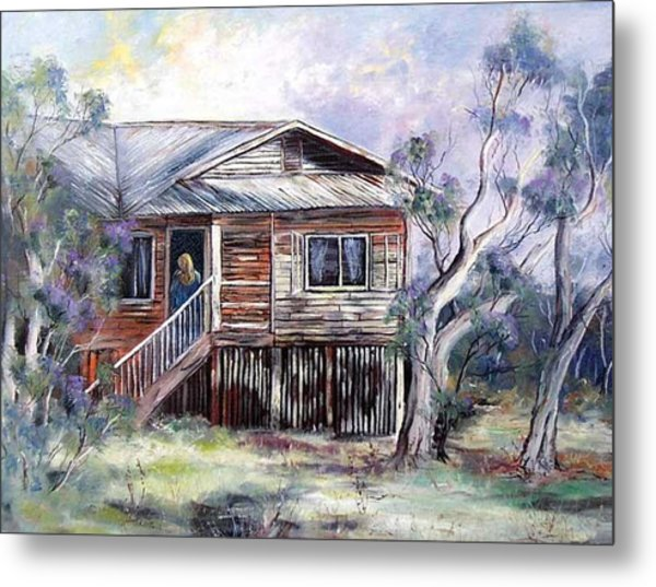 Queenslander Style House, Cloncurry. Metal Print