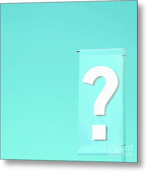 Metal Print featuring the photograph Question by Cindy Garber Iverson