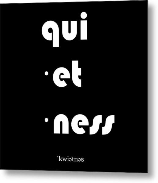 Qui Et Ness Metal Print
