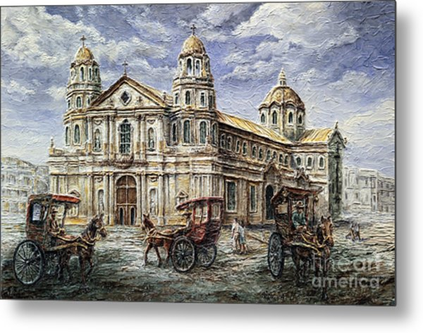 Quiapo Church 1900s Metal Print