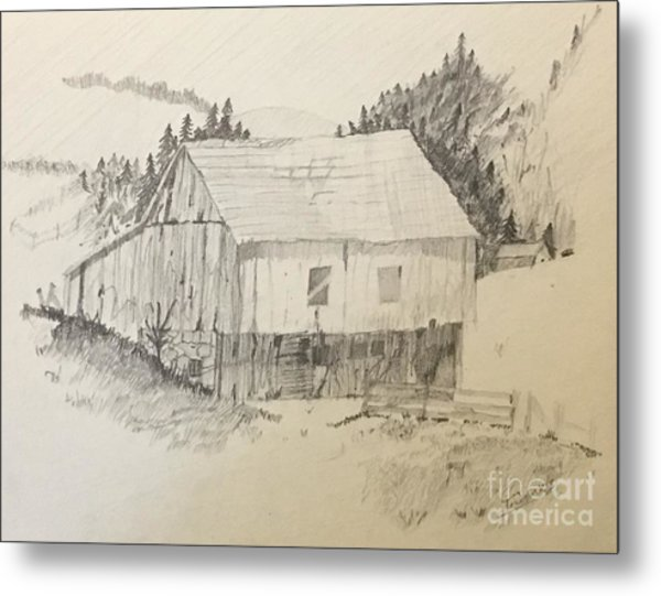 Quiet Barn Metal Print