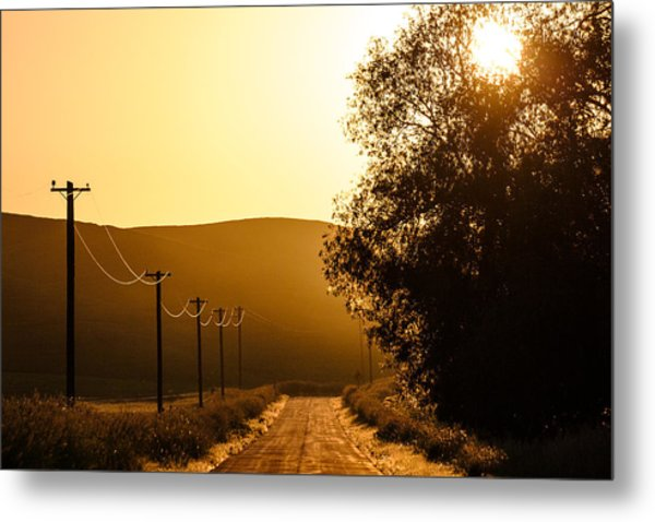 Quiet Country Road Metal Print