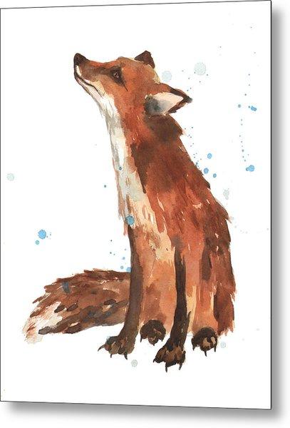 Quiet Fox Metal Print