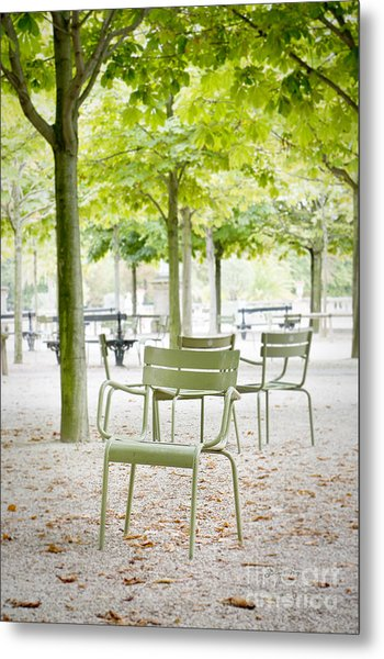 Quiet Moment At Jardin Luxembourg Metal Print