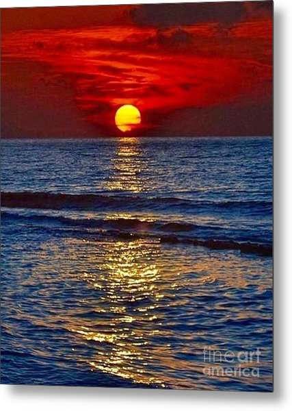 Quiet On The Ocean Metal Print