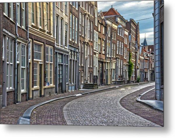 Quiet Street In Dordrecht Metal Print
