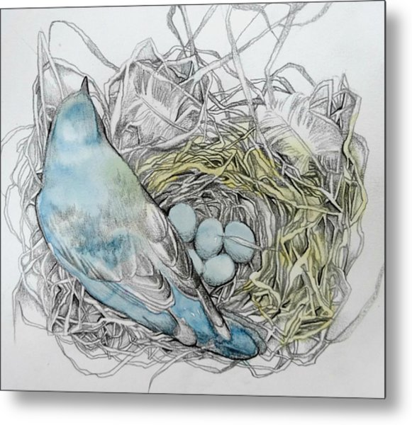Metal Print featuring the drawing Quiet Time by Rose Legge