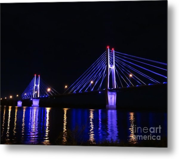 Quincy Bay View Light Reflection Metal Print