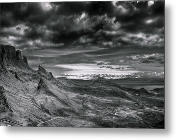 Quiraing On Isle Of Skye Scotland Metal Print