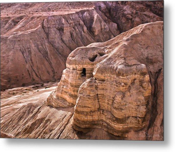 Qumran Cave 4, Israel Metal Print