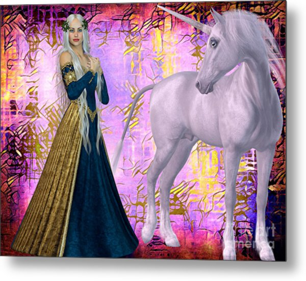 Metal Print featuring the digital art Quod Magicae Spectro by Lita Kelley