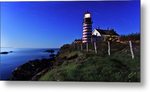 Quoddy Head By Moonlight Metal Print