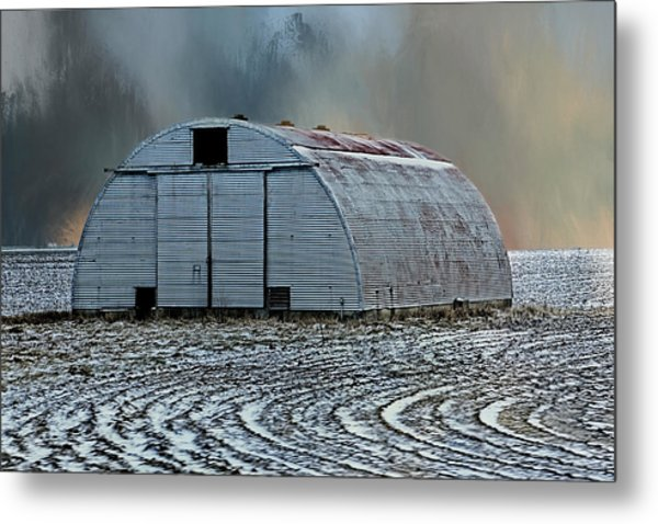 Quonset Hut Metal Print